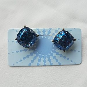 MODCLOTH blue sparkle post earrings